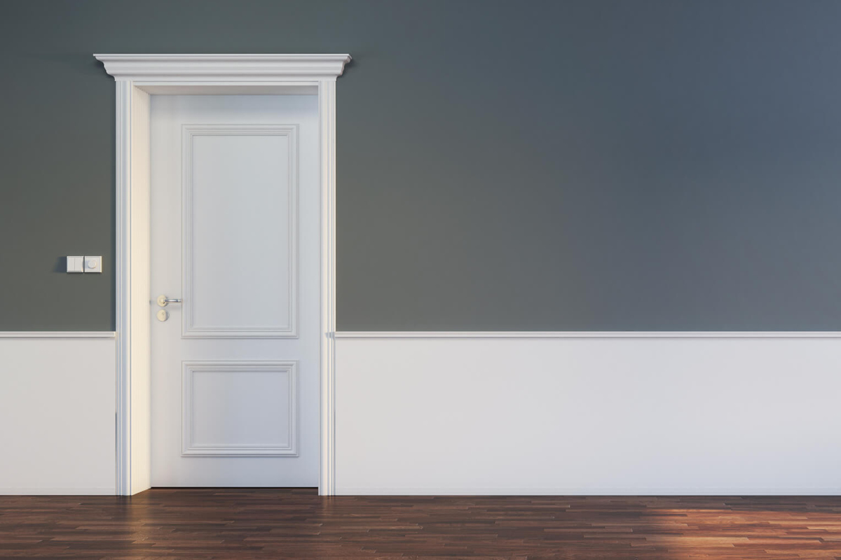 Maler in Wiesloch Bild Tür mit Grauer Wand